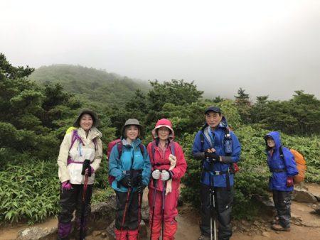 奥岳から野地温泉までの安達太良連峰縦走ツアーは悪天候により断念‼︎